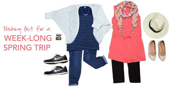 Easy Packing List for a Week-Long Spring Trip