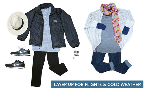 Save space in your bag by wearing bulkiest items on flight