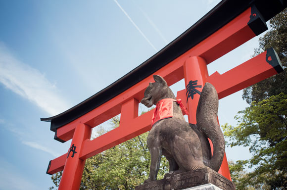 Kitsune fox at Fushimi Inari Shrine